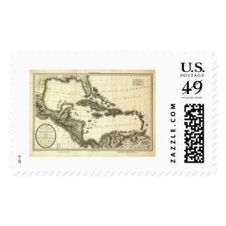 West Indies & Gulf of Mexico Map 1806 Postage Stamp