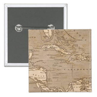 West Indies Map by Arrowsmith Pinback Button