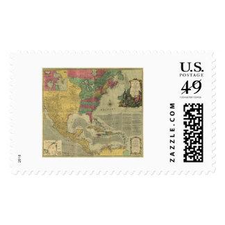 West Indies & North America Map - 1774 Stamp