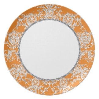 West_Indie's_Orange-Sun (c) Everyday_ Melamine Plate