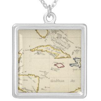 West Indies Square Pendant Necklace
