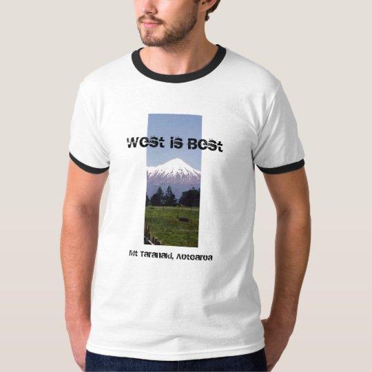 West is Best, Mt Taranaki, Aotearoa T-Shirt