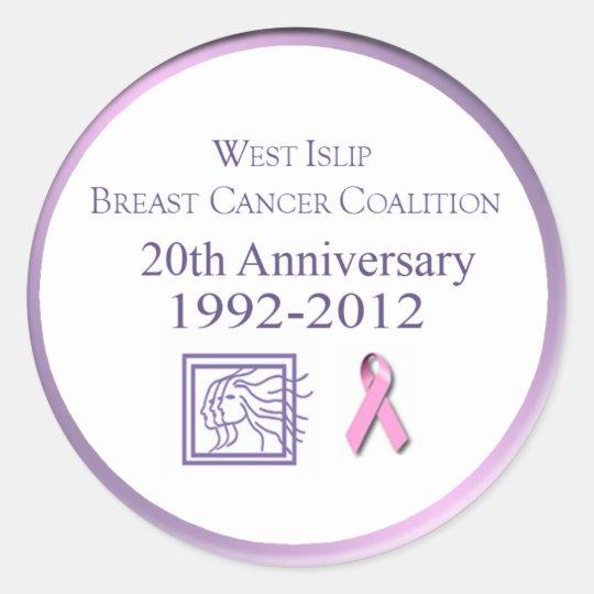 West Islip Breast Cancer Coalition Classic Round Sticker