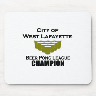 West Lafayette Beer Pong Champion Mouse Pad
