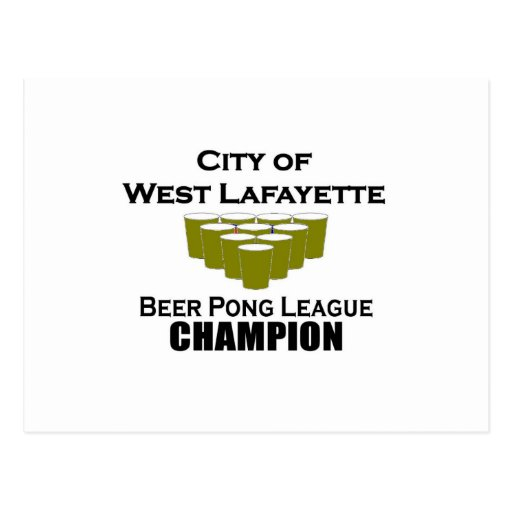 West Lafayette Beer Pong Champion Post Card