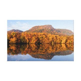 "West Lake Fall Reflection 13x8  .75"" Canvas Print"
