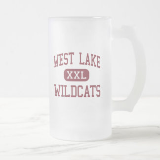 West Lake - Wildcats - Middle - Apex Frosted Glass Beer Mug