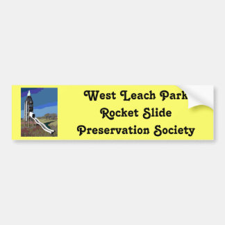 West Leach Park Rocket Slide Preservation Society Bumper Sticker