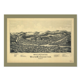 West Lebanon, NH & White River Junction, VT (1889) Card