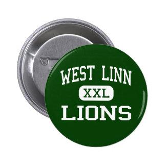 West Linn - Lions - High School - West Linn Oregon Pinback Button