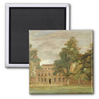 West Lodge, East Bergholt (oil on paper laid on pa 2 Inch Square Magnet