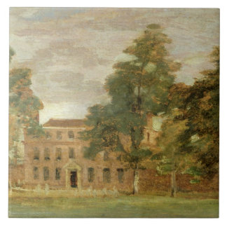 West Lodge, East Bergholt (oil on paper laid on pa Large Square Tile