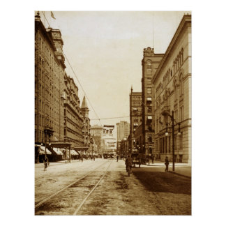 West Main St. from Fitzhugh St. Intersection Print