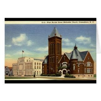 West Market Street, Greensboro NC Vintage Card