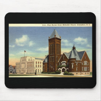 West Market Street, Greensboro NC Vintage Mouse Pad