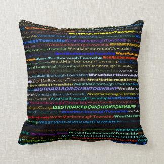 West Marlborough Township Text Dsgn I Throw Pillow