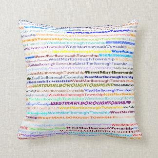 West Marlborough Township TextDsgn II Throw Pillow