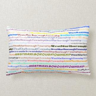 West Marlborough Township TextDsgnII Lumbar Pillow