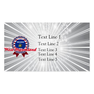 West Marshland, WI Double-Sided Standard Business Cards (Pack Of 100)
