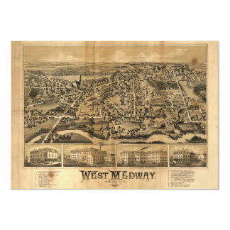 West Medway Massachusetts (1887) 5x7 Paper Invitation Card
