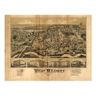 West Medway Massachusetts (1887) Postcard