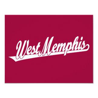 West Memphis script logo in white Card