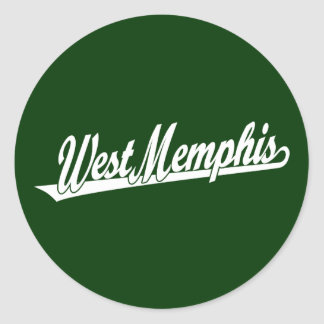 West Memphis script logo in white Sticker