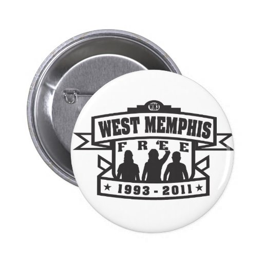 West Memphis Three Pinback Buttons
