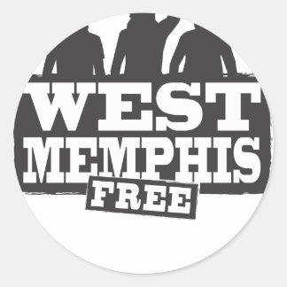 West Memphis Three Round Stickers