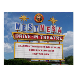 West Mesa Drive-In's Marquee Postcard