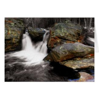 West Mill Falls, Stinson Brook in Rumney, NH. Greeting Card