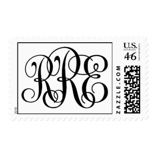 West Monogram Postage Stamps