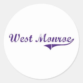 West Monroe Louisiana Classic Design Round Stickers