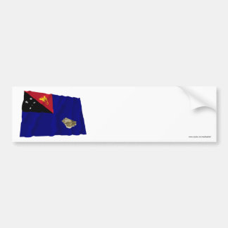 West New Britain Province Waving Flag Bumper Stickers