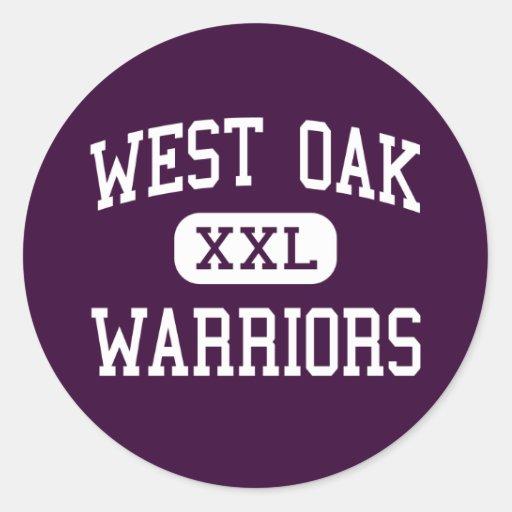 West Oak - Warriors - High - Westminster Round Stickers