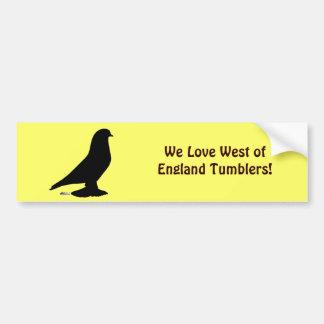 West of England Silhouette Bumper Sticker