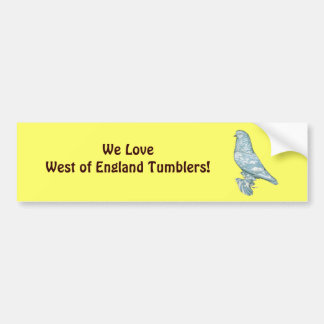 West of England Tumbler:  Lavender Mottle Bumper Sticker