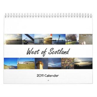 West of Scotland 2011 Calender Calendar
