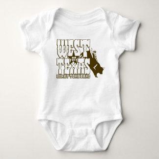 WEST OF TEXAS Bull Rider logo Baby Bodysuit