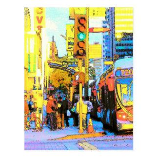 West on Wilshire- Postcard