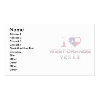 West Orange, Texas Business Card Templates