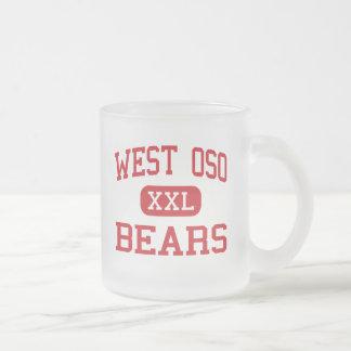 West Oso - Bears - Middle - Corpus Christi Texas Frosted Glass Coffee Mug