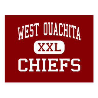 West Ouachita - Chiefs - High - West Monroe Postcard