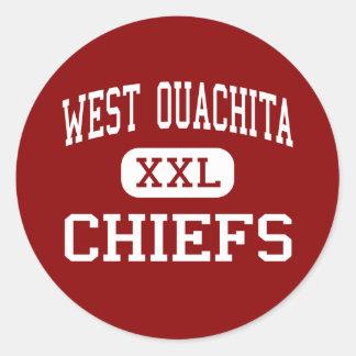 West Ouachita - Chiefs - High - West Monroe Round Stickers