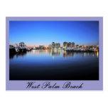 West Palm Beach azul Postal