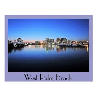 West Palm Beach azul Tarjetas Postales