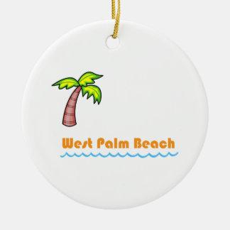 West Palm Beach Ceramic Ornament