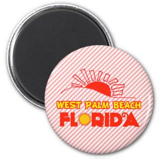 West Palm Beach, Florida 2 Inch Round Magnet