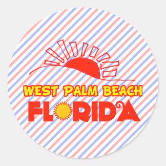 West Palm Beach, Florida Classic Round Sticker