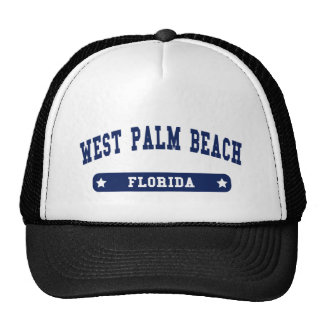 West Palm Beach Florida College Style tee shirts Trucker Hat